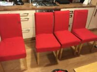 4 dining chairs, re-upholstery project