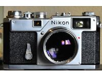 Nikon s3 35mm with flash and 50mm 1.4 lens