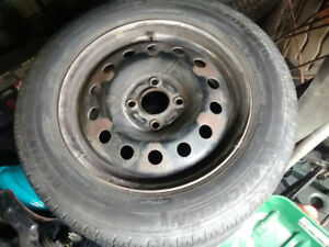 4 gently used tires on Dodge Rims