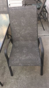 Table 4 reg chairs 2 recliners  and one side table, 2 foot rest