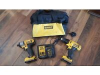 DCF815 IMPACT DRIVER and DCD710 DRILL DRIVER with 3 batteries and charger