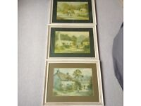 3 X Devon Watercolour Painting by L Bowden