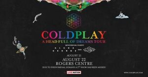 2 TICKETS ColdPlay 22nd Aug Section 517 - Toronto (Urgent)