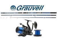 Grauvell Vertix Flash Surfcasting Reel & Vertix Volcan LC-MT 420 Rod Combo + Spool Of Asso Ultra