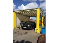 Established Hand Car Wash Valeting Business For Sale - Busy Road - Excellent Location - Car Sales