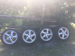 Porsche 993 911 Boxster Original Twist wheels with tires (4)