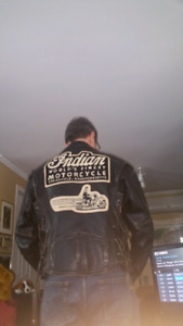 Indian collectible vintage leather jacket