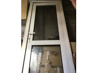 Double glazed external UPVC door & frame with lock & key