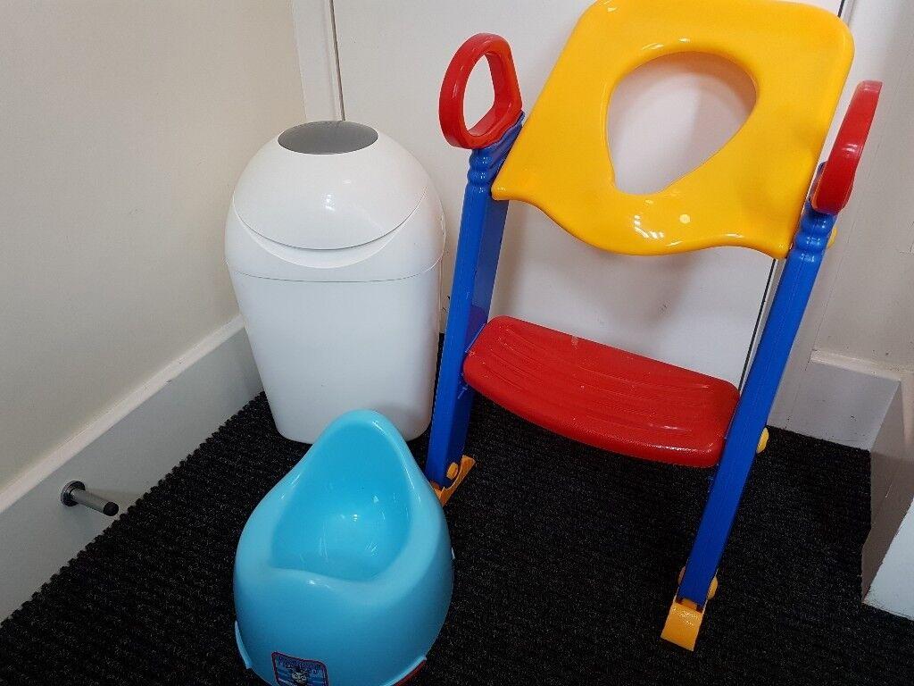 Nappy disposal system+ potty
