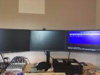 "3x 24"" Iiyama ProLite E2483HS Monitors"