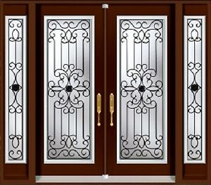 Double Front Entry Door Two Sidelights 6