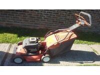 Husqvarna self propelled mower electric start & Kawasaki engine expensive new