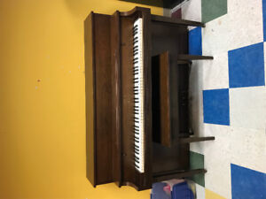 Upright piano, moderate condition, needs tuning