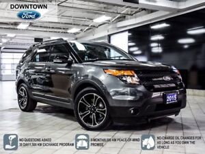 2015 Ford Explorer Sport, Towing package, Vista Moonroof, Naviga