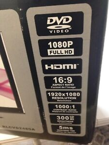 """24"""" rca flat tv with built in DVD player"""