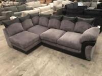 Brand new grey chorded corner sofa