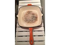 Cast iron square frypan / skillet £10 orange