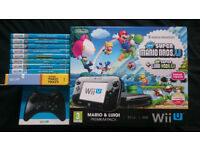 Nintendo Wii U 32GB with 9 Games and Pro Controller