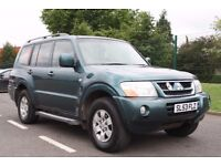 2004 Mitsubishi Shogun 3.2 DI-D Field 4X4 FSH+FULL LEATHER+ALLOYS, 3 MONTHS WARRANTY, PX WELCOME