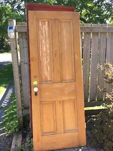 Antique solid-pine, four-panel doors (price for 6)