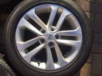 2015 nissan juke 17 inch alloy wheel with bridgestone tyre BRAND NEW