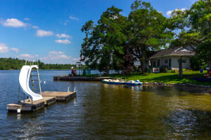 Unique waterfront property with 365 feet of shoreline