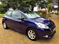 PEUGEOT 208 208 Active 1.0, Free Road Tax, MOT Aug 2018, Excellent All Round (blue) 2013