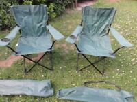 Camping Chairs Pair