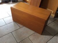 Tapley 33 teak records or drinks wall cabinet