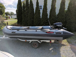 14' Inflatable Seamax with 20hp Tohatsu
