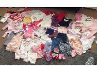 Large baby girls bundle