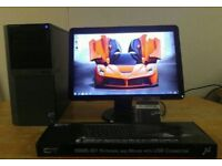 QUICK & FAST SSD Dell Optiplex 980 4 Quad Core CAD Desktop Computer PC With Dell 21""