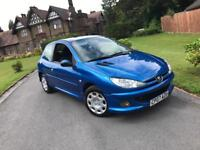 2007 PEUGEOT 206 LOOK 1.4 HDI ** ONLY 71,000 MILES FROM NEW - MOT UNTIL APRIL 2018 **