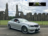 2013 Mercedes-Benz C63 AMG 6.3 ( 457bhp ) MCT 7S **Red Leather - 23,000 Miles**