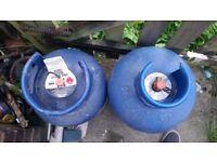 2 Gas Bottles Calor 1x 12 litre and 1x 15 litre