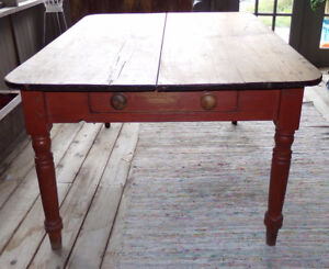 Antique Pine Table with drawer Prop from TV show Hemlock Grove