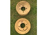 2 ATV or Trailer Wheel rims, 11 inches diameter, by 4 inches