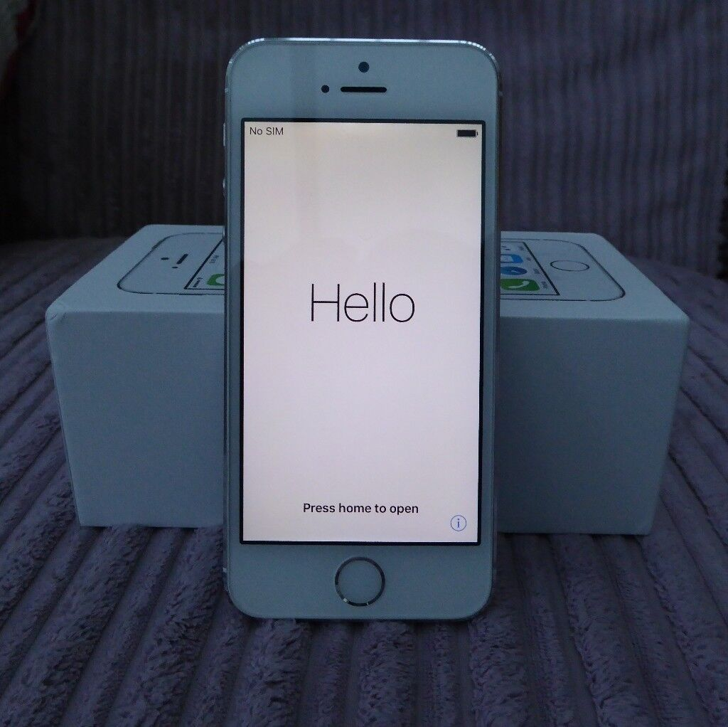 iphone 5s silver 16GB unlocked immaculate condition with boxin Bangor, County DownGumtree - Unlocked Silver iphone 5S 16GB New at Christmas 2016 Always used in cover with screen protector Fully original phone no replaced parts Excellent battery life Condition as new Comes with box (no charger or earphones)