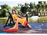 OMTEX RIVAZ WHOLESALE COTTON SATIN WITH WORK SALWAR SUITS
