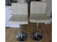 Bar stools - adjustable, swivel, with back for kitchen/breakfast bar