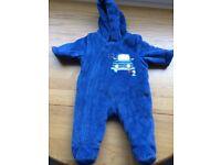1 x Mothercare Pram Suit (Blue - upto 10lbs)