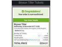 3 BRYSON TILLER TICKETS