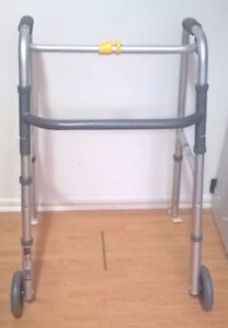 Airgo Institutional Folding Walker with Wheels and Walker Glides