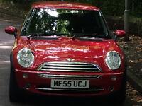 Red 2005 Mini One Hatchback 1.6 petrol manual