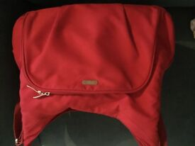 Mamas and papas dark pink baby changing bag excellent condition