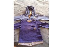 Jean Bourget boys shirt & hoody (age 23 months) - VGC