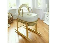 Kinder valley Cream my little rocker moses basket. With ROCKING moses basket stand. Brand new.