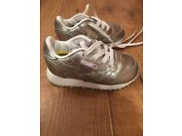 Reebok Classic Silver Infant Size 5
