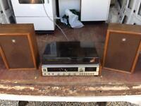 Retro Vinyl player with speakers