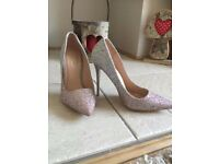 Silver And Pink Ombre Heels